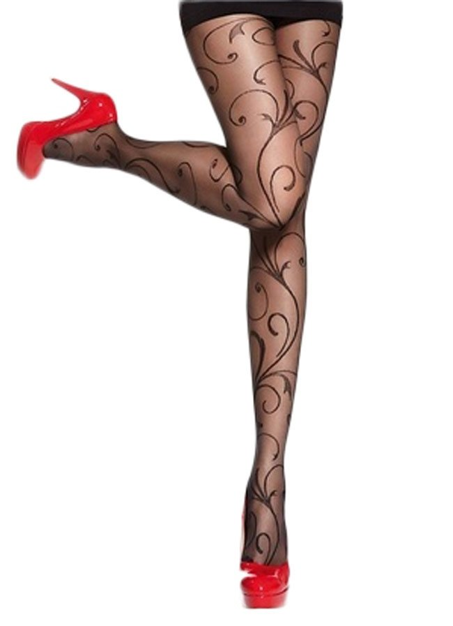 26eea9f6670 Details about Plus Size 20 Denier Patterned Tights