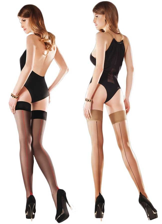 33f21e9f0b4 Add a touch of retro style to your outfit with these gorgeous seamed hold  ups from Gabriella ...