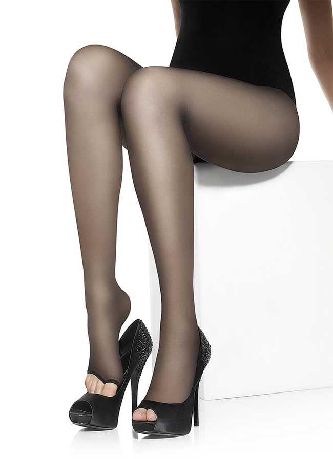 b175b41eb Details about 15 Denier Classic Open Toe Summer Tights