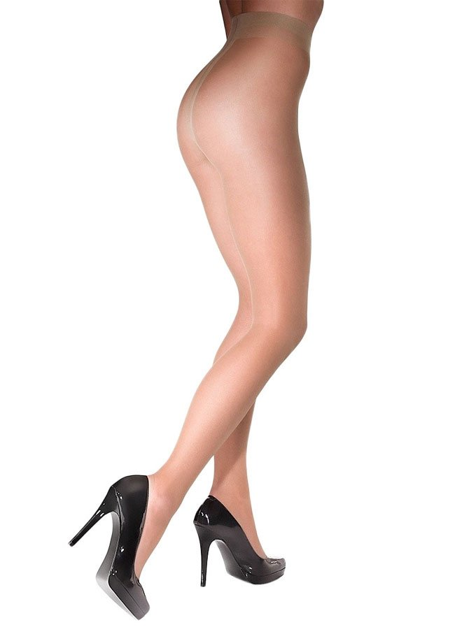 10ca18122e162 Details about 15 Denier Classic T-Band Sheer Black Hosiery Tights - Marilyn  Nudo Hosiery